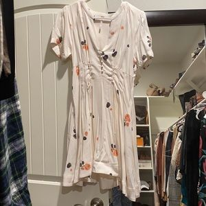 Free people cream/floral dress